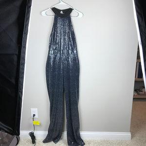Rachel Roy, fully sequined, Black jumpsuit Sz4NWT